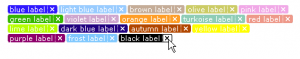 CSS Gmail style labels
