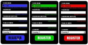 Cool CSS-only registration form
