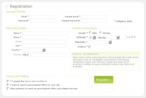 CSS Registration form