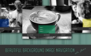 Beautiful Background Image Navigation with jQuery