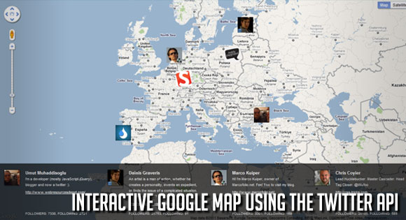InteractiveGoogleMapTwitter