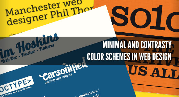 Minimal and Contrasty Color Schemes in Web Design