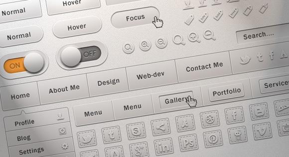 Freebie: Soft UI Kit (PSD)