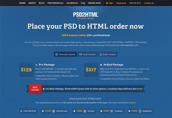 PSD2HTML Order