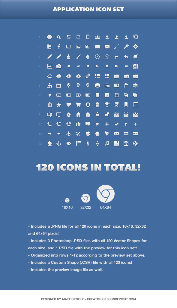Application Icon Set by Matt Gentile
