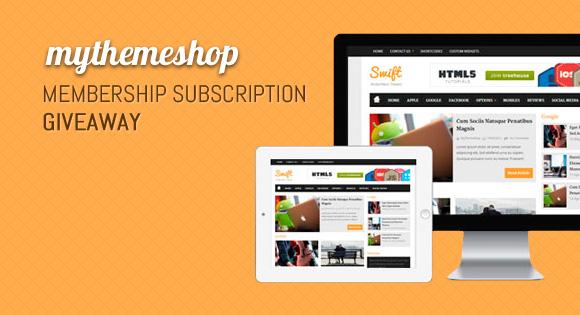 MyThemeShop Membership Subscription Giveaway