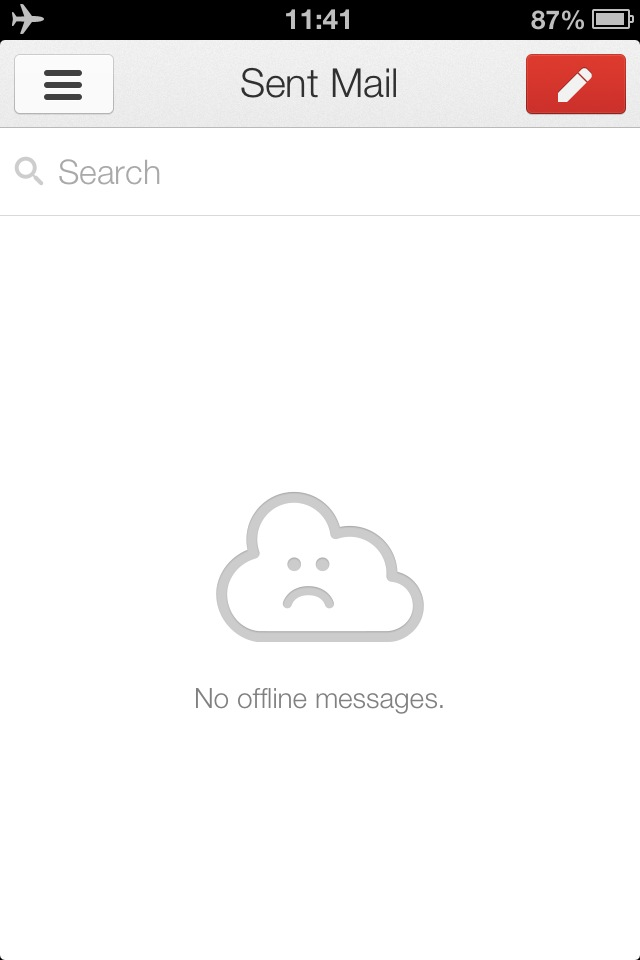 Gmail iOS Offline