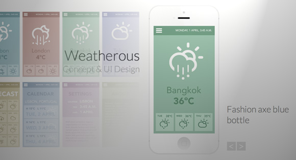 App Showcase with Grid Overlay