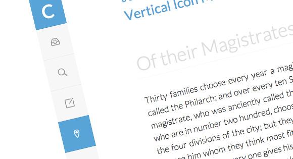 Vertical Icon Menu