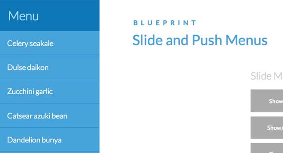 Slide Push Menus
