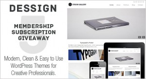 Dessign Responsive WordPress Themes Membership Giveaway