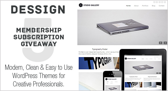 Dessign Responsive WordPress Themes Membership Giveaway