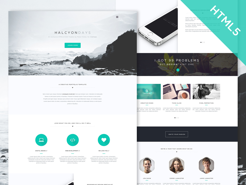 One Page Website Free