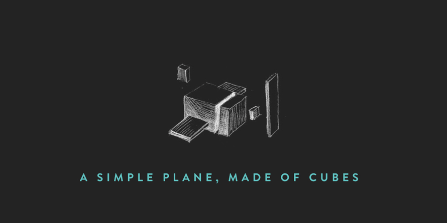 Animated3DScene_plane-of-cubes