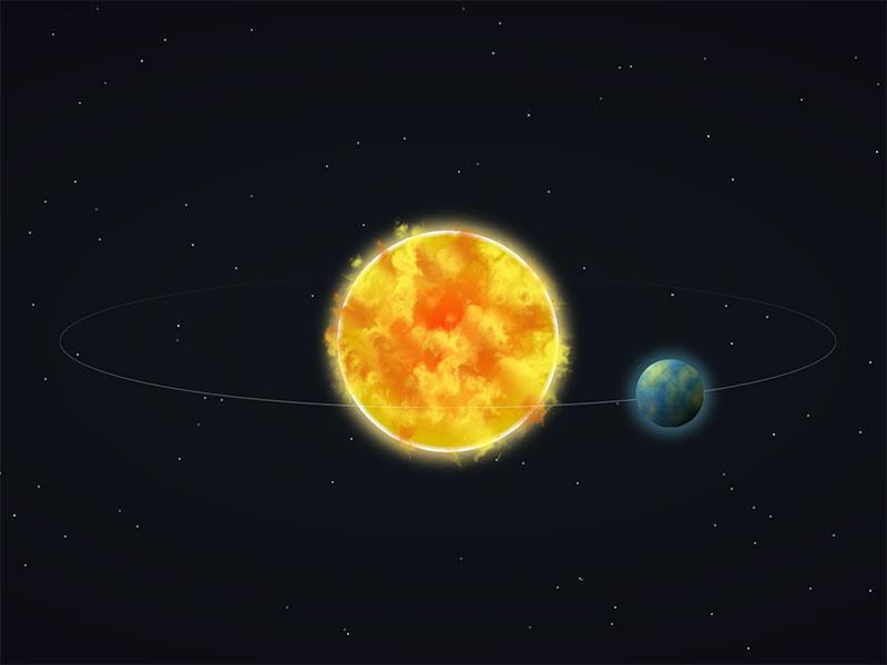 Sun-&-Earth