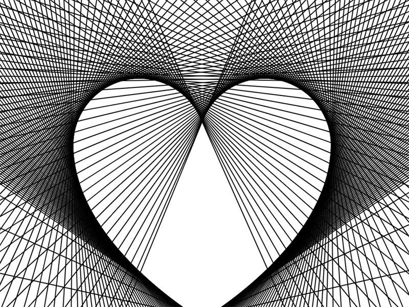 Sloping-heart