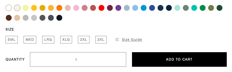 Color options example