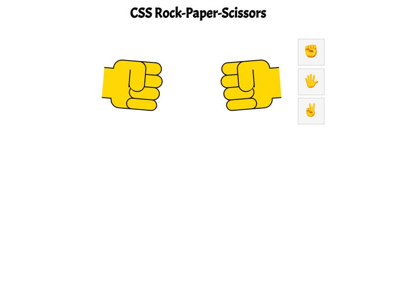 CSSRock-Paper-Scissors
