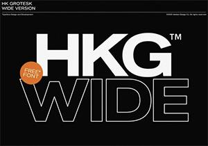 Free Font HK Grotesk Wide