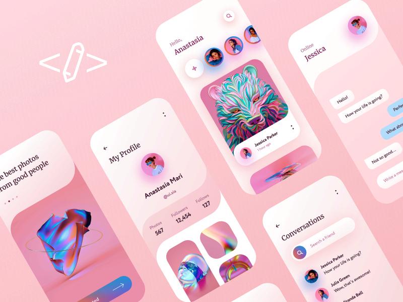 Social-Mobile-App-UI-Kit-Cover